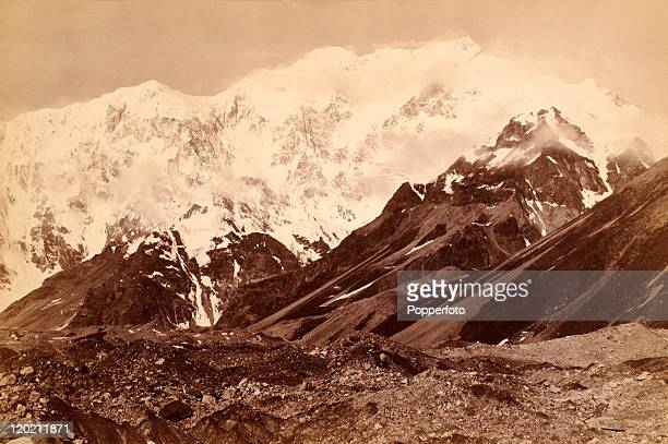Kanchenjunga the third highest peak in the world in the Himalayas circa 1890