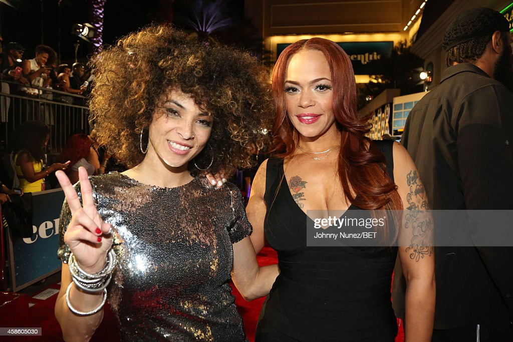 Kandace Springs and Faith Evans attend 2014 Soul Train Music Awards on November 7, 2014 in Las Vegas, Nevada.