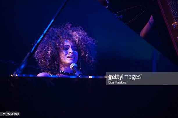 Kandace Springs performs live on stage at the Cheltenham Jazz Festival on May 2 2016 in Cheltenham England