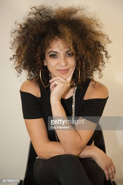 Kandace Springs portrait session backstage at the Cheltenham Jazz Festival on May 2 2016 in Cheltenham England