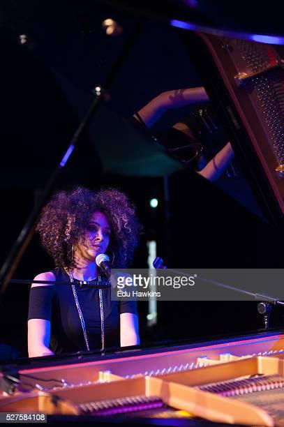 Kandace Springs soundchecks at the Cheltenham Jazz Festival on May 2 2016 in Cheltenham England