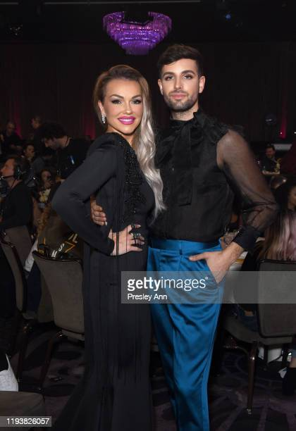 Kandee Johnson and Daniel Preda attend The 9th Annual Streamy Awards on December 13 2019 in Los Angeles California