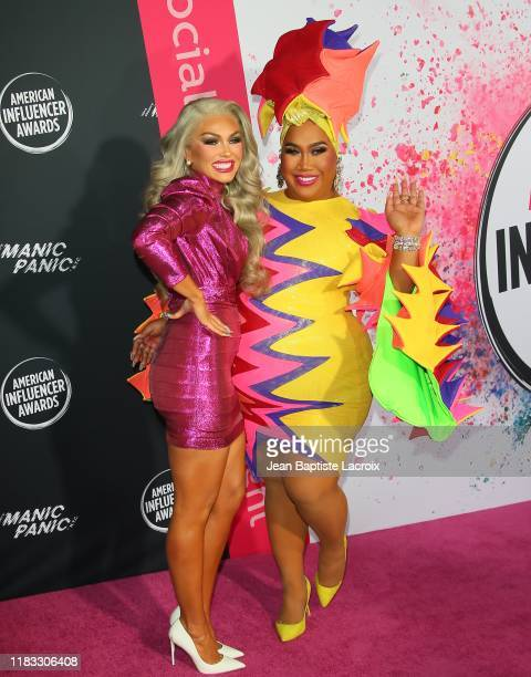 Kandee Johnson and Patrick Starr attend the 2nd Annual American Influencer Awards at Dolby Theatre on November 18 2019 in Hollywood California