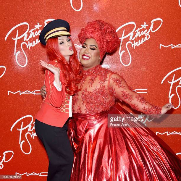 Kandee Johnson and Patrick Starrr attend MAC Cosmetics PatrickStarrr Slay Ride Launch Party at The York Manor on December 2 2018 in Los Angeles...