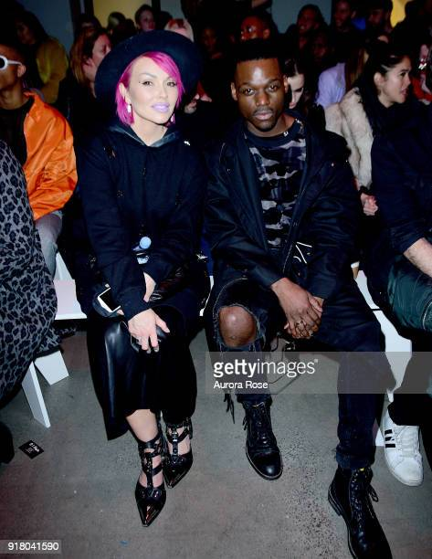 Kandee Johnson and Story attend The Blonds Runway show during New York Fashion Week at Spring Studios on February 13 2018 in New York City