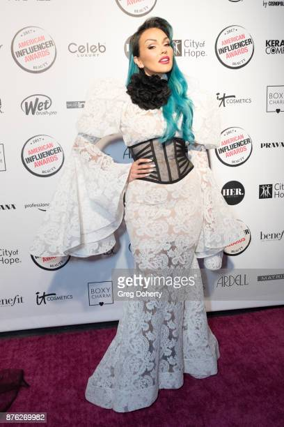 Kandee Johnson attends the American Influencer Award at The Novo by Microsoft on November 18 2017 in Los Angeles California