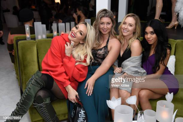 Kandee Johnson Teala Dunn and guests attend Vogue x Lancôme Holiday Event at The Jeremy Hotel on November 29 2018 in West Hollywood California