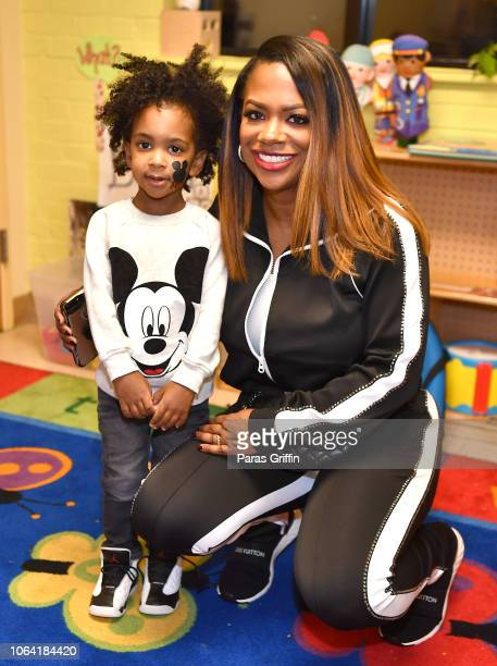 Kandi Burruss and her son Ace Tucker attend 2018 Kandi Cares Foundation Thanksgiving Blessings Fall Fest at Our House on November 21 2018 in Atlanta...