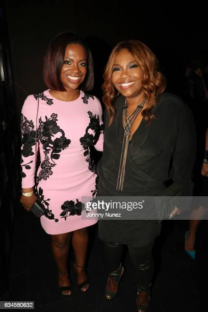 Kandi Burruss and Mona ScottYoung attend the Annual PreGrammy Reception hosted by Ted Reid at STK on February 9 2017 in Los Angeles California