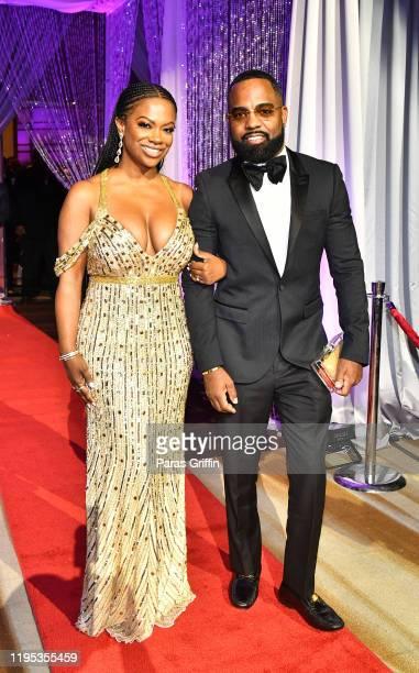 Kandi Burruss and Todd Tucker arrive at 36th Annual Atlanta UNCF Mayor's Masked Ball at Atlanta Marriott Marquis on December 21, 2019 in Atlanta,...