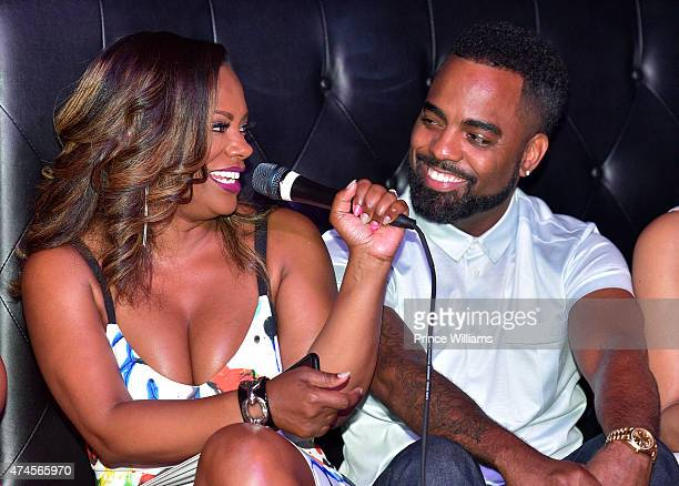 Kandi Burruss and Todd Tucker attend Kandi's Ski Trip Viewing at Suite Lounge on May 17 2015 in Atlanta Georgia