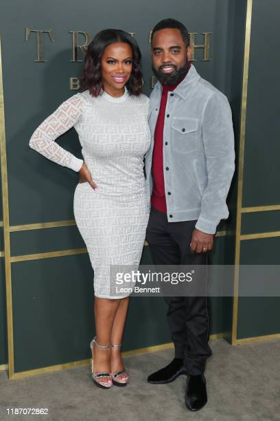 R Kandi Burruss and Todd Tucker attend Premiere Of Apple TV's Truth Be Told at AMPAS Samuel Goldwyn Theater on November 11 2019 in Beverly Hills...
