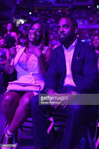 Kandi Burruss and Todd Tucker attend the 2015 Ford Neighborhood Awards Hosted By Steve Harvey at Phillips Arena on August 8 2015 in Atlanta Georgia