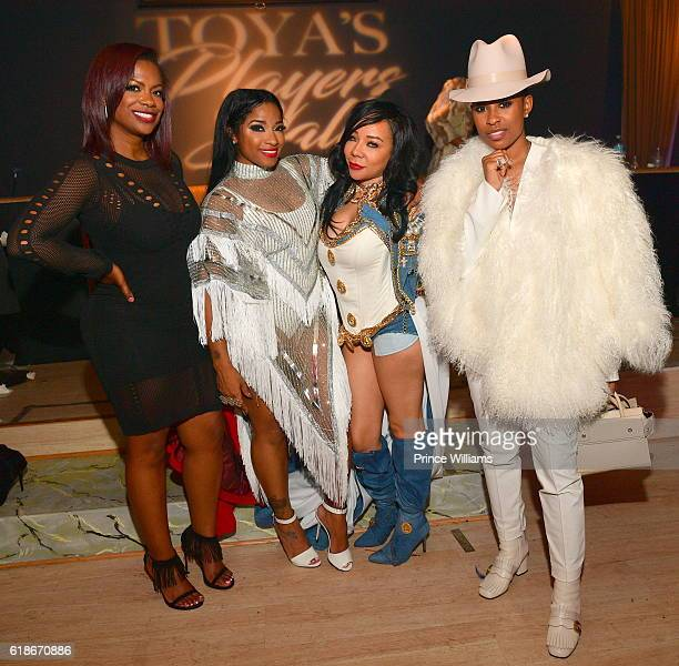 Kandi Burruss Antonia 'Toya' Wright Tameka 'Tiny' Harris and Dej Loaf attend Toya Wright's Players Ball and Birthday Bash at Haven on October 27 2016...