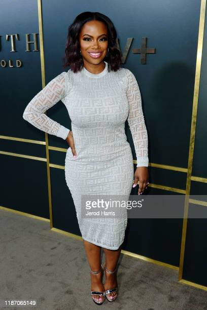 Kandi Burruss arrives at the premiere of Apple TV's 'Truth Be Told' at AMPAS Samuel Goldwyn Theater on November 11 2019 in Beverly Hills California