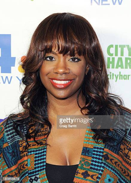 Kandi Burruss attends the 2nd annual Nonstop Day of Giving telethon at the NBC Experience Store on December 15 2011 in New York City