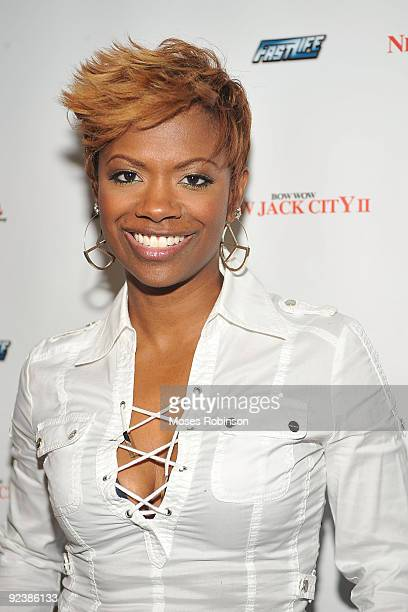 Kandi Burruss formely of Xscape attends the Bow Wow FAST LIFE Album Release Party at AquaKnox Atlanta on April 2 2009 in Atlanta Georgia