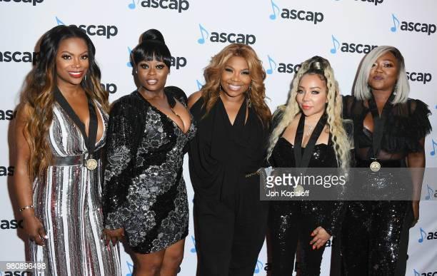 Kandi Burruss LaTocha Scott Mona ScottYoung Tameka 'Tiny' Harris and Tamika Scott attend the 2018 ASCAP Rhythm Soul Music Awards at the Beverly...
