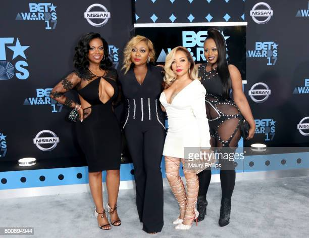 Kandi Burruss LaTocha Scott Tameka Cottle and Tamika Scott of Xscape at the 2017 BET Awards at Microsoft Square on June 25 2017 in Los Angeles...