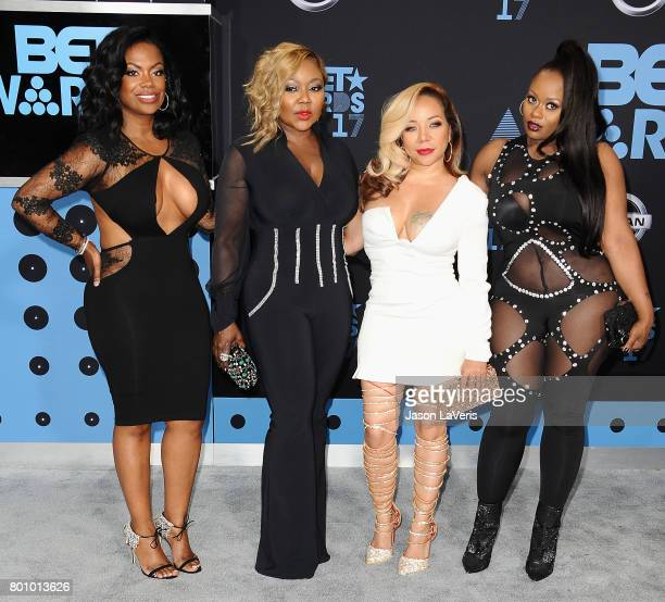 Kandi Burruss LaTocha Scott Tameka Cottle and Tamika Scott of Xscape attend the 2017 BET Awards at Microsoft Theater on June 25 2017 in Los Angeles...