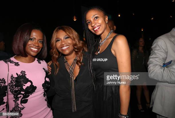 Kandi Burruss Mona ScottYoung and Robin Young attend the Annual PreGrammy Reception hosted by Ted Reid at STK on February 9 2017 in Los Angeles...