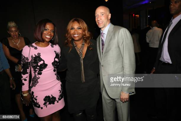 Kandi Burruss Mona ScottYoung and Ted Reid attend the Annual PreGrammy Reception hosted by Ted Reid at STK on February 9 2017 in Los Angeles...