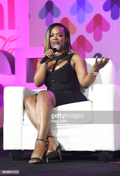 Kandi Burruss of 'Xscape' speaks onstage at the 2017 ESSENCE Festival presented by CocaCola at Ernest N Morial Convention Center on July 2 2017 in...