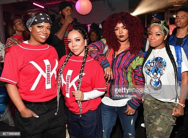 Kandi Burruss Tameka Harris Rasheeda and Antonia 'Toya' Wright attend Reginae Carters Birthday Party at Suite Lounge on December 2 2016 in Atlanta...