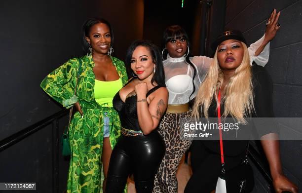 "Kandi Burruss, Tameka ""Tiny"" Harris, Tamika Scott, and LaTocha Scott of Xscape backstage during Majic 107.5 After Dark at City Winery on September..."