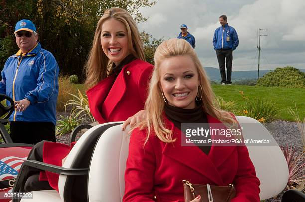 Kandi Harris and Christina Zimmer during the 38th Ryder Cup at the Twenty Ten Course at Celtic Manor in Newport Wales on Thursday September 30 2010