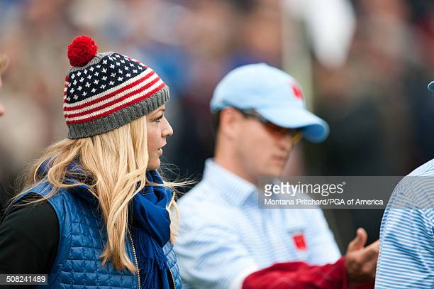 Kandi Harris during the continuation of Saturday's foursome and fourball matches at the 38th Ryder Cup at the Twenty Ten Course at Celtic Manor in...