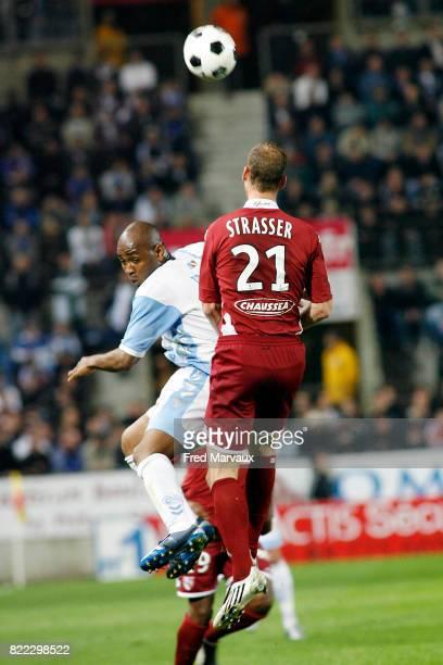 Kandia TRAORE / Jeff STRASSER Strasbourg / Metz 33eme journee de Ligue 2