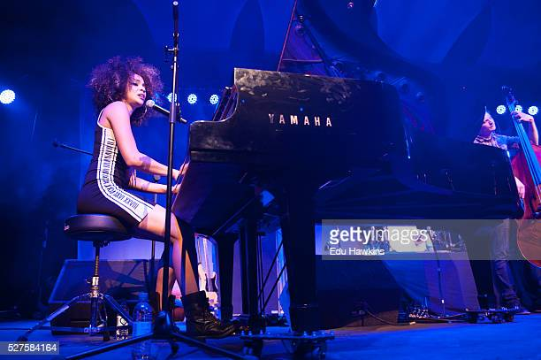 Kandice Springs performs live on stage at the Cheltenham Jazz Festival on May 2 2016 in Cheltenham England