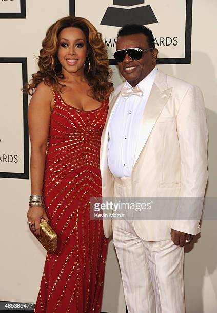 Kandy Johnson Isley and recording artist Ronald Isley attend the 56th GRAMMY Awards at Staples Center on January 26 2014 in Los Angeles California