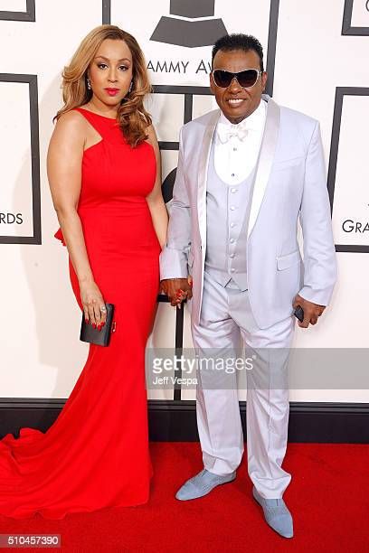 Kandy Johnson Isley and recording artist Ronald Isley attend The 58th GRAMMY Awards at Staples Center on February 15 2016 in Los Angeles California