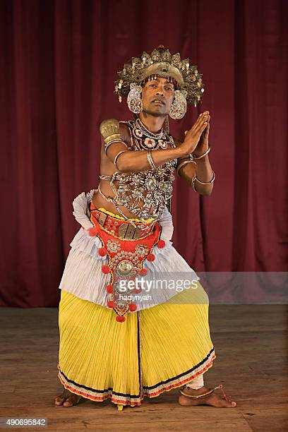 Kandyan dancer during the show, Kandy, Sri Lanka
