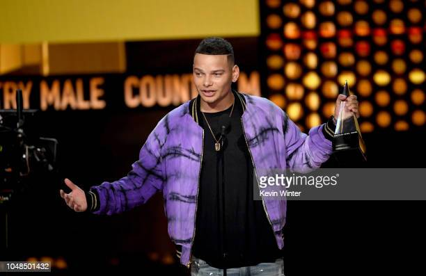 Kane Brown accepts Favorite Male Artist Country onstage during the 2018 American Music Awards at Microsoft Theater on October 9 2018 in Los Angeles...