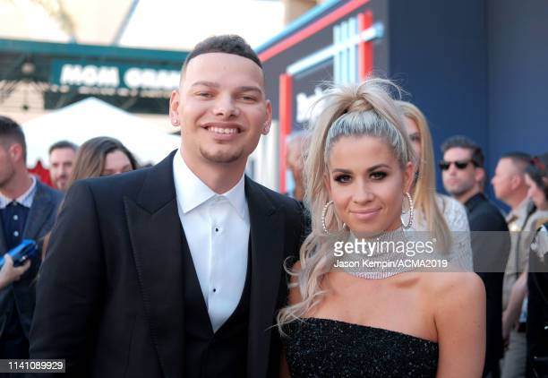 Kane Brown and Katelyn Jae attend the 54th Academy Of Country Music Awards at MGM Grand Garden Arena on April 07 2019 in Las Vegas Nevada