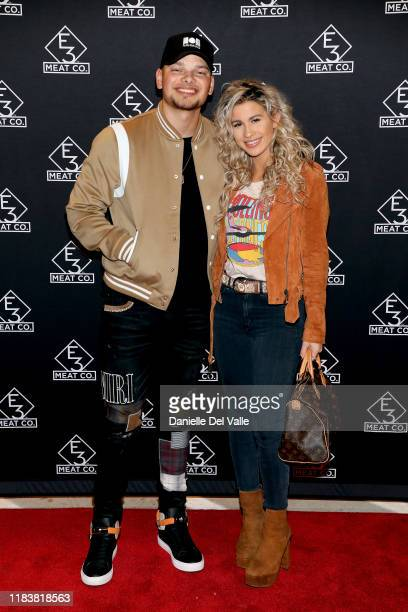 Kane Brown and Katelyn Jae attend the grand opening of E3 Chophouse Nashville on November 20 2019 in Nashville Tennessee