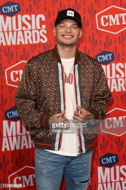Kane Brown attends the 2019 CMT Music Awards at the Bridgestone Arena in Nashville Tennessee