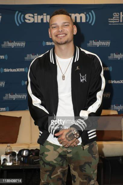 Kane Brown attends the SiriusXM's The Highway broadcast backstage leading up to the Academy of Country Music Awards at MGM Grand Garden Arena on...