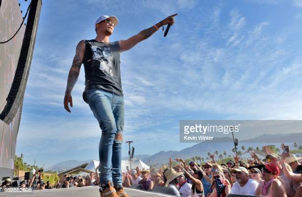 Kane Brown performs onstage during 2018 Stagecoach California's Country Music Festival at the Empire Polo Field on April 29 2018 in Indio California