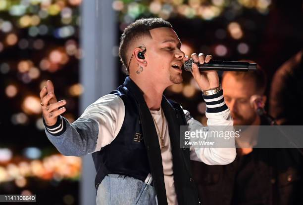 Kane Brown performs onstage during the 54th Academy Of Country Music Awards at MGM Grand Garden Arena on April 07 2019 in Las Vegas Nevada