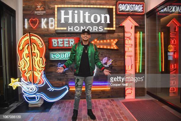 Kane Brown prior to taking the stage for a special performance exclusively for Hilton Honors members at Canopy by Hilton Dallas Uptown on November 30...