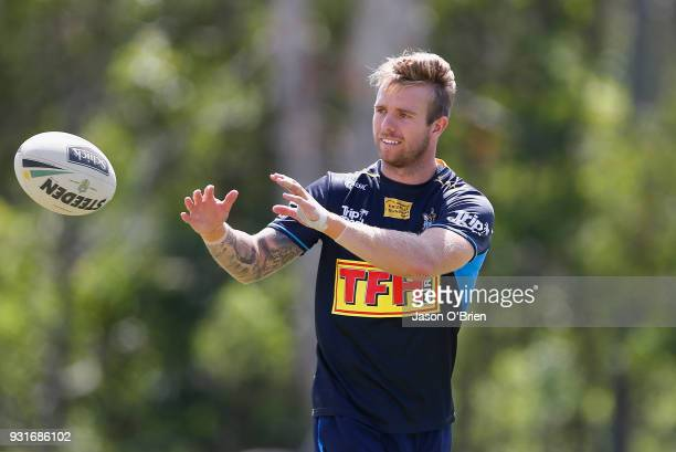 Kane Elgey during a Gold Coast Titans NRL training session at Parkwood on March 14 2018 in Gold Coast Australia
