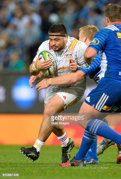 Kane Hames of the Chiefs during the Super Rugby Quarter final between DHL Stormers and Chiefs at DHL Newlands on July 22 2017 in Cape Town South...