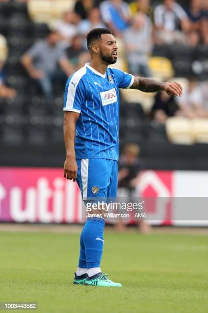 Kane Hemmings of Notts County during the preseason match between Notts County and Leicester City at Meadow Lane on July 21 2018 in Nottingham England