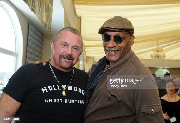 Kane Hodder and Tony Todd attend the 2018 Monster Mania Con at NJ Crowne Plaza Hotel on March 10 2018 in Cherry Hill New Jersey