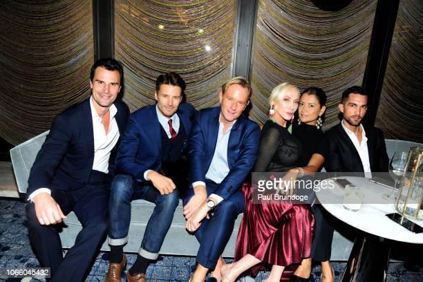 Kane Manera Alex Lundqvist Daniel Benedict Jackie Astier Keytt Lundqvist and Tobias Sorensen attend Netflix Hosts The After Party For 'Roma' at The...