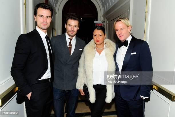 Kane Manera Alex Lundqvist Keytt Lundqvist and Daniel Benedict attends the New York premiere of 'Phantom Thread' After Party at Harold Pratt House on...